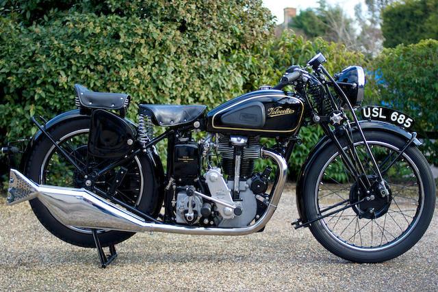 1937 Velocette 348cc KTS Frame no. 3868 Engine no. 8129