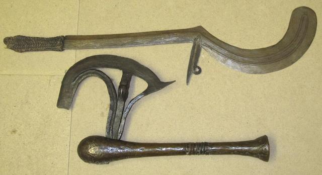 A Songye axe and a central African throwing knife 2
