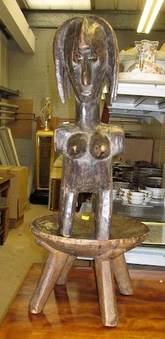 A Senufo female figure and a Tanzanian stool 2