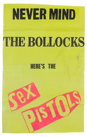 Sex Pistols: A promotional poster for the album 'Never Mind The Bollocks - Here's The Sex Pistols', 1977,