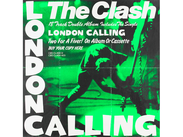 The Clash: A promotional poster for the album 'London Calling', 1979,