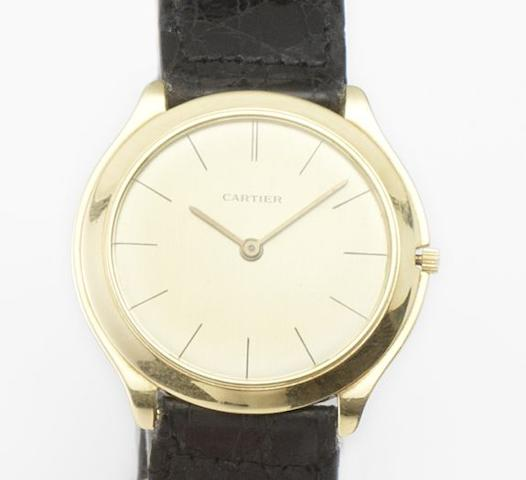 Audemars Piguet. A fine 18ct gold manual wind slim cased wristwatch Circa 1961
