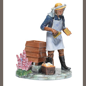 Doulton Barlaston The Beekeeper, a Rare Colour Trial Model, circa 2008