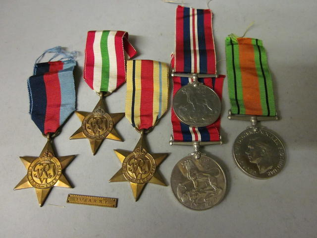 Group of World War II medals, (6)