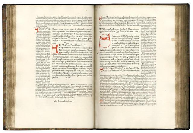 CICERO (MARCUS TULLIUS) Epistolae ad familiares [with the commentary of Hubertus clericus]
