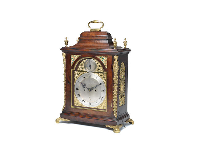 A late 18th century mahogany bracket clock Thomas Pace, London