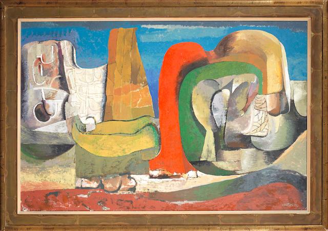 Cecil Edwin Frans Skotnes (South African, 1926-2009) 'The Brandberg Landscape'