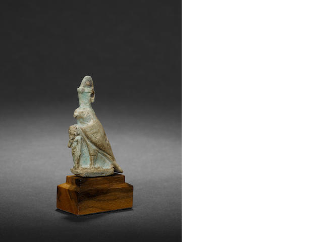 An Egyptian faience Horus and Harpocrates