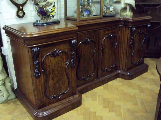 A mid-Victorian mahogany inverted breakfront sideboard