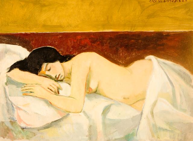 Maurice Charles Louis van Essche (South African, 1906-1977) Sleeping nude