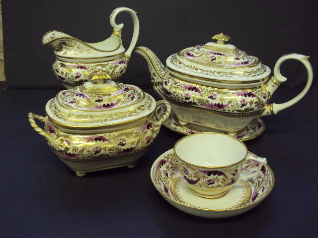 An early 19th century Bloor Derby tea service