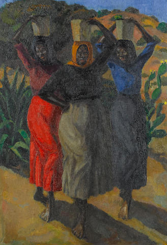 Alfred Neville Lewis (South African, 1895-1972) Three South African women