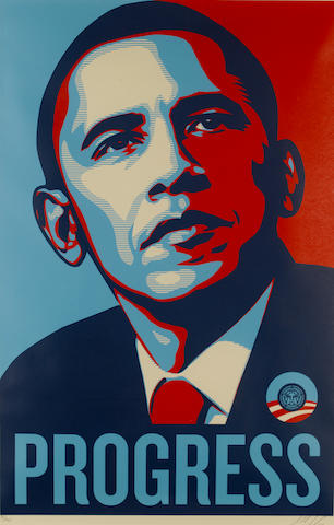 Shepard Fairey (American, born 1970) 'Progress', 2008
