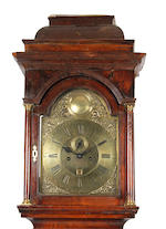 A good second quarter 18th Century walnut-cased 8-day brass dial longcase clock John Hayton, London sold with two weights plus pendulum