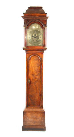 Brass faced longcase clock