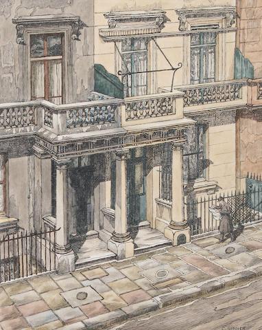 Charles Ginner (French/British, 1878-1952) 'Street in Pimlico'
