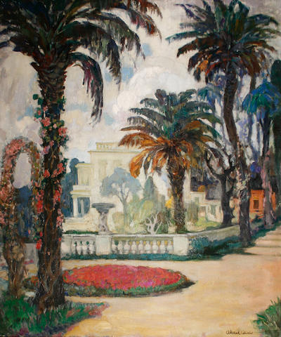 Fernand Allard l'Olivier (Belgian, 1883-1933) A house in Cap Ferrat