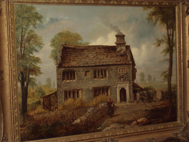 Harry Armstrong Whittle (British, later 19th century) Dun Cow Rib Farmhouse, near Longridge, Lancashire