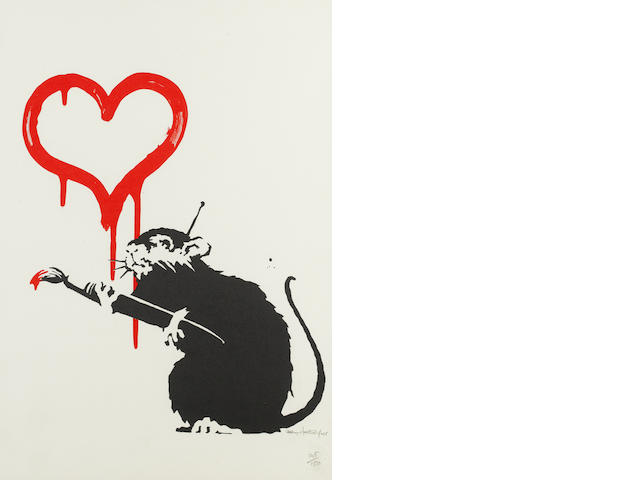 Banksy (British, born 1975) 'Love Rat', 2004