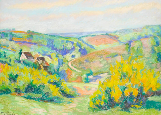 Armand Guillaumin (1841-1927), mixed technique on paper, 40cm x 63cm