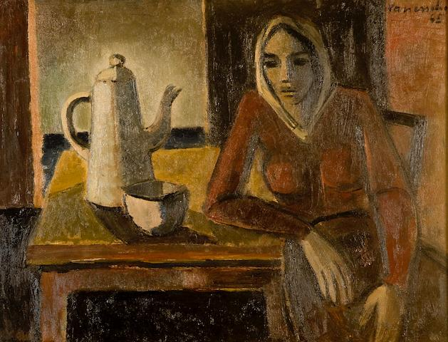 Maurice Charles Louis van Essche (South African, 1906-1977) Malay woman with coffee pot