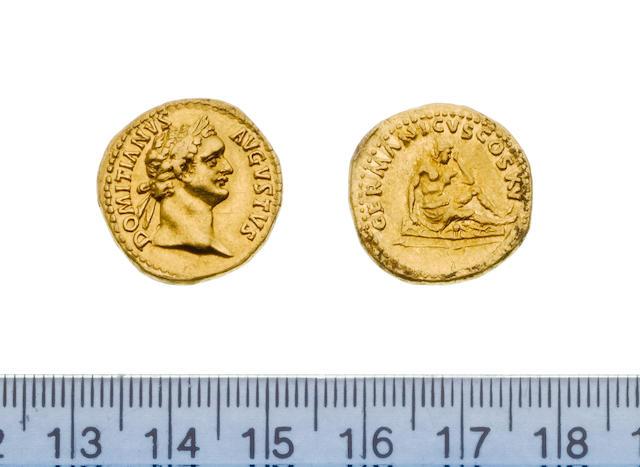 Domitian, 81-96, Aureus, 7.7g, DOMITIANUS AUGUSTUS. laureate head right,