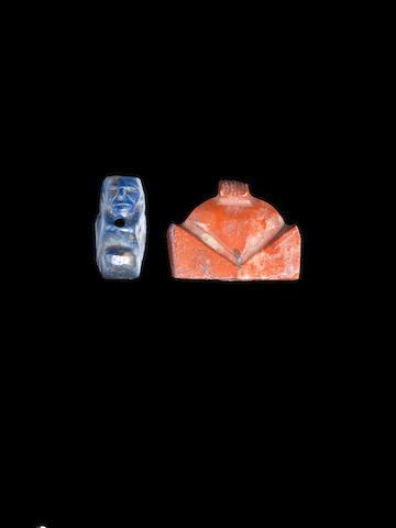 An Egyptian lapis lazuli sphinx amulet 2