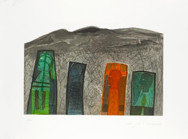 Mimmo Paladino (Italian, born 1948) 'Sguardo a Destra', 2000