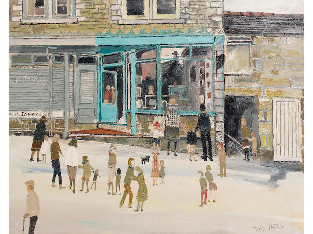 Fred Yates (British, 1922-2008) 'The Gallery' unframed