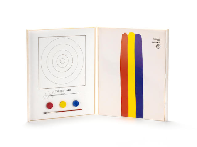 Jasper Johns (American, born 1930) 'Target 1970', 1971 Offset lithograph in colors with collage and rubber stamp, from the edition of 22,500, published by Gemini G.E.L., Los Angeles for The Museum of Modern Art, New York 261 x 215 mm (10 1/4 x 8 1/4 in)