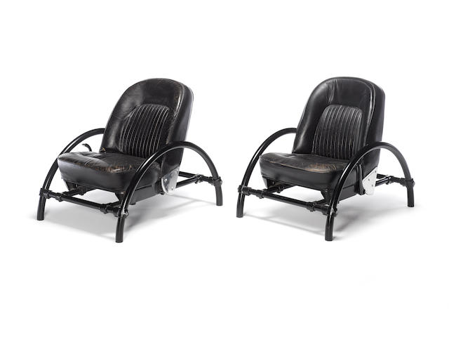 A pair of Ron Arad rover chairs