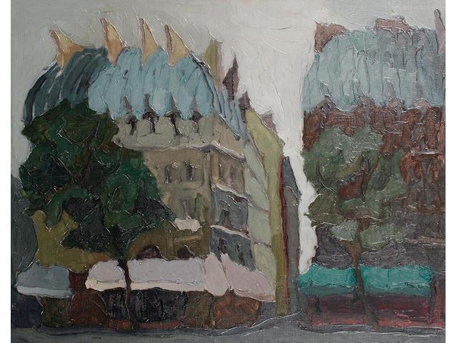 Toti Scialoja (Italian, 1914-2001) Palazzi a Place Saint Michel, Parigi