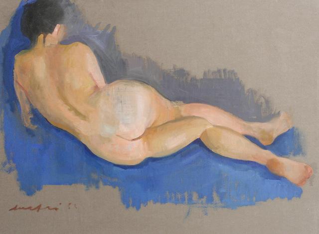 Mario Mafai (Italian, 1902-1965) Reclining nude