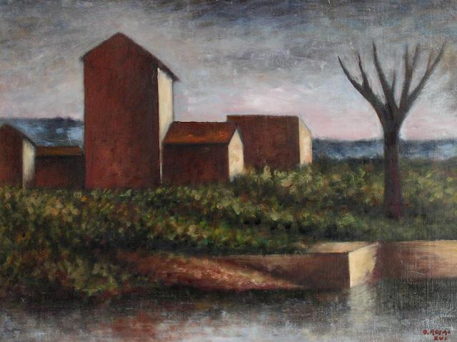 Ottone Rosai (Italian, 1895-1957) Paese