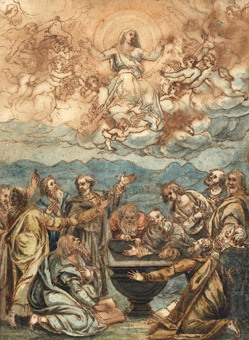 Italian School, Late 17th/Early 18th Century The Assumption