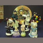 A collection of seven Royal Doulton figurines