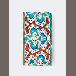 An Iznik pottery border tile Turkey,  circa 1590