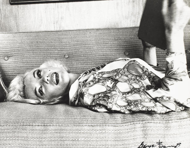 George Barris (American, born 1928) 'Marilyn on the Sofa', 1962