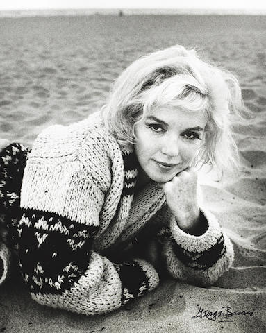 George Barris (American, born 1928) 'Marilyn on the Beach', 1962