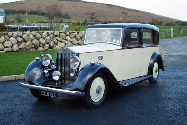 1937 Rolls-Royce 25/30hp Saloon  Chassis no. GLP16 Engine no. P24R