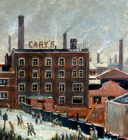 Arthur Delaney (British, 1927-1987) Figures before Cary's mill
