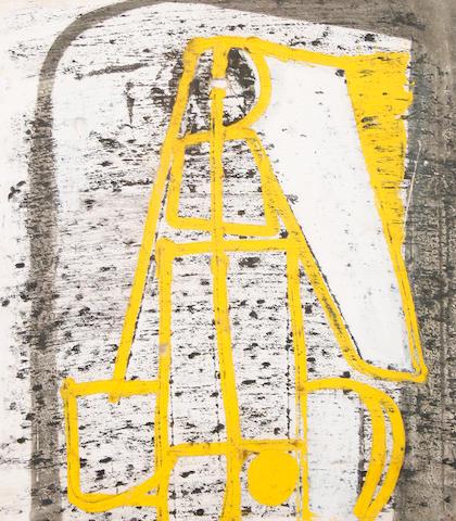 Peter Lanyon (British, 1918-1964) Yellow construction, c.1950