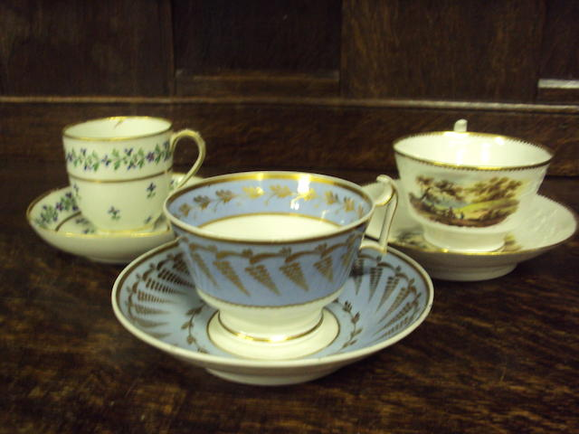 A mixed collection of 19th century teawares