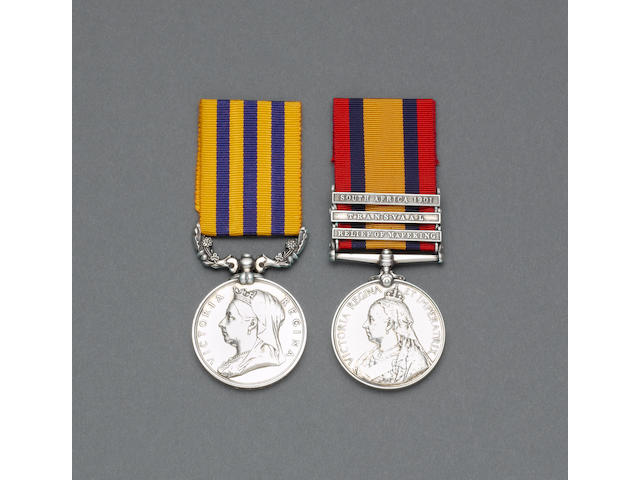 Pair to Lieutenant A.Ormond, Imperial Light Horse, late Gifford's Horse,
