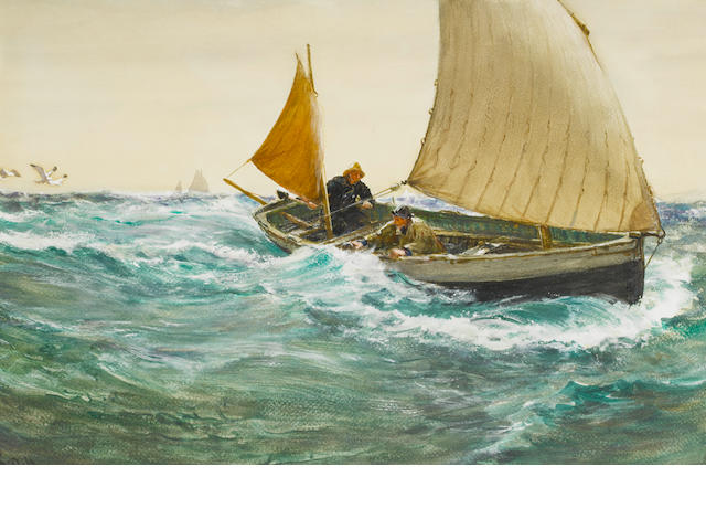 Charles Napier Hemy (British, 1841-1917) Wind abeam
