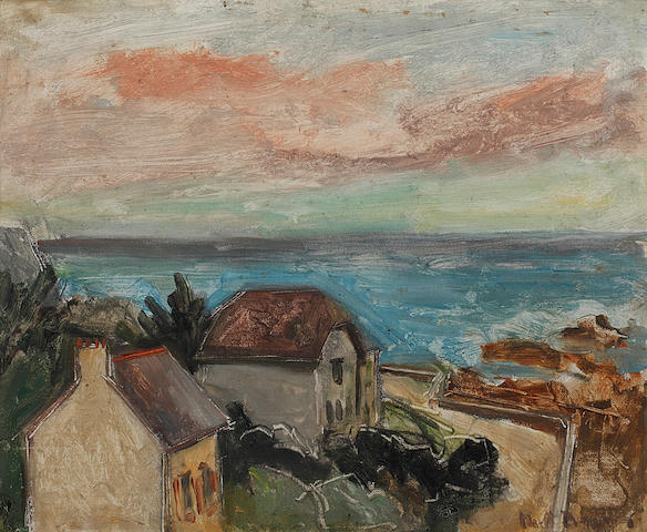 Keith Baynes (British, 1887-1977) 'Sunset, Concarneau'