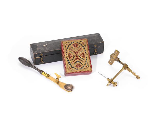 A pocket botanic microscope and a simple microscope,  19th century, (2)