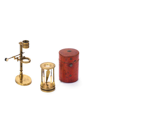 Two botanic simple microscopes,  circa 1800, (2)