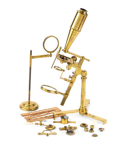 An Adams Universal-type compound monocular microscope, English, circa 1800,