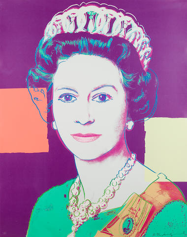 Andy Warhol (American, 1928-1987) 'Queen Elizabeth II', from 'Reigning Queens (Royal Edition)', 1985 (F&S II.335A)